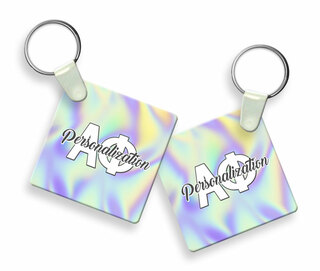 Alpha Phi Holla Square Keychain