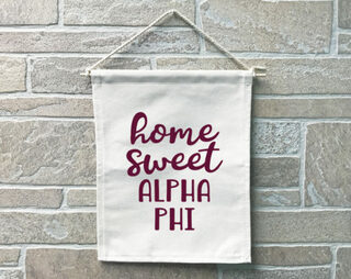 Alpha Phi Home Sweet Home Banner