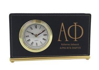 Alpha Phi Horizontal Desk Clock