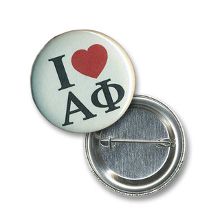 Alpha Phi I Love Mini Sorority Buttons