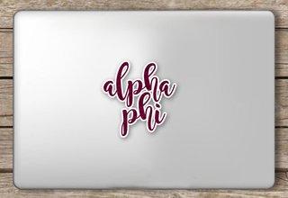 Alpha Phi Script Sticker
