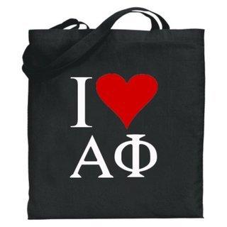 Alpha Phi I Love Tote Bags