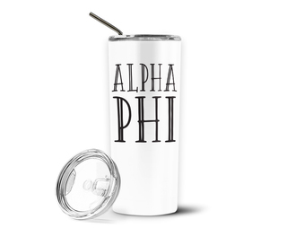 Alpha Phi Inline Stainless Tumbler