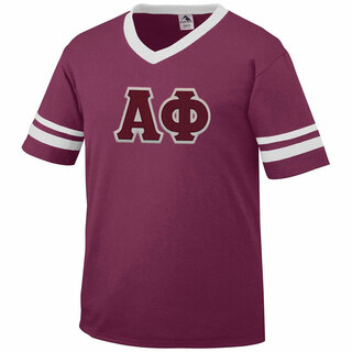DISCOUNT-Alpha Phi Jersey With Greek Applique Letters