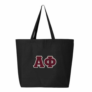 DISCOUNT-Alpha Phi Jumbo Canvas Tote