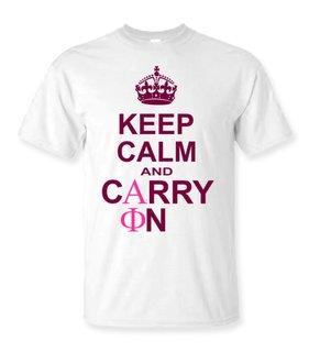 Alpha Phi Keep Calm T-Shirts