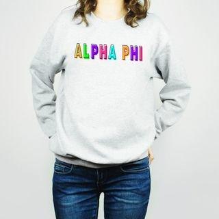 Alpha Phi Leah Crew Sweatshirt