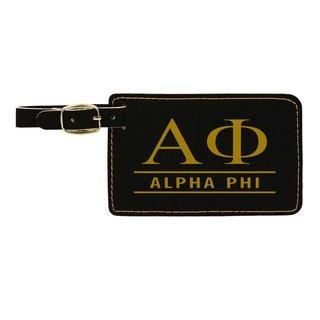 Alpha Phi Leatherette Luggage Tag