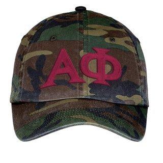 Alpha Phi Lettered Camouflage Hat