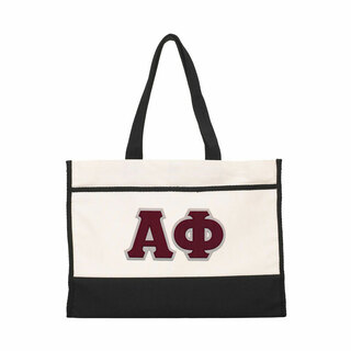 DISCOUNT-Alpha Phi Lettered Contemporary Tote