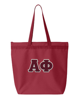 DISCOUNT-Alpha Phi Lettered Game Day Tote