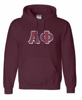 Alpha Phi Lettered Greek Hoodie- MADE FAST!
