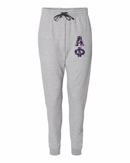 """Alpha Phi Lettered Joggers (3"""" Letters)"""