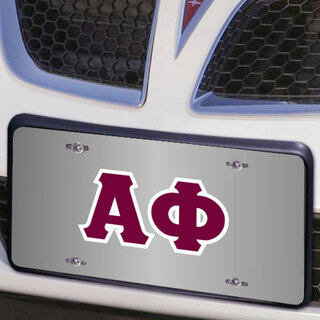 Alpha Phi Lettered License Cover