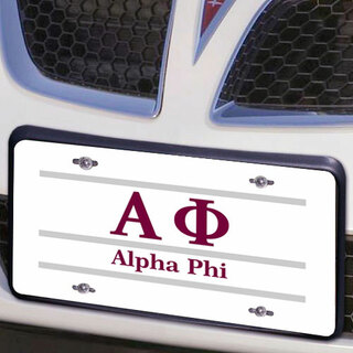 Alpha Phi Lettered Lines License Cover