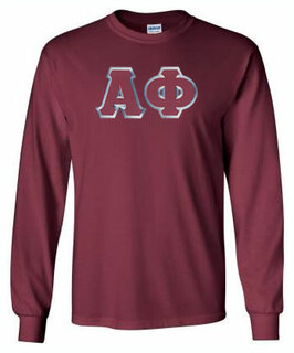 Alpha Phi Lettered Long Sleeve Tee- MADE FAST!