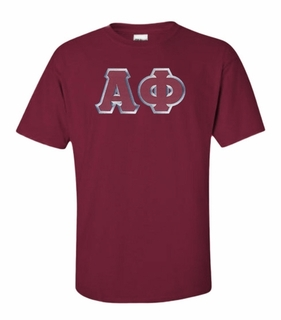 Alpha Phi Lettered T-shirt - MADE FAST!