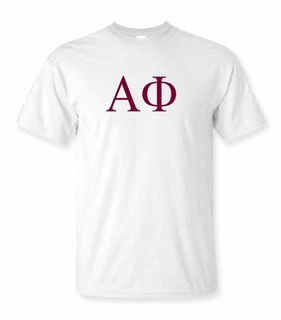 Alpha Phi Lettered Tee - $9.95! - MADE FAST!