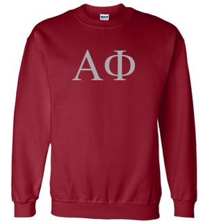 Alpha Phi Lettered World Famous Greek Crewneck