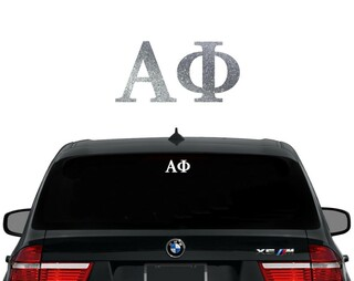Alpha Phi Letters Decal