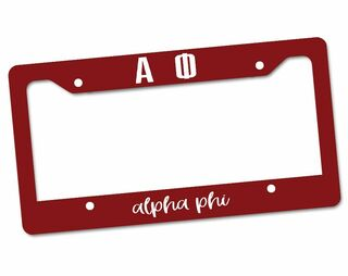 Alpha Phi Custom License Plate Frame