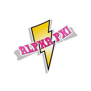 Alpha Phi Lightning Bolt Decal