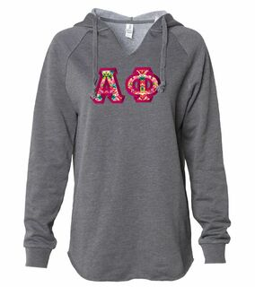 Alpha Phi Lightweight California Wavewash Hooded Pullover Sweatshirt