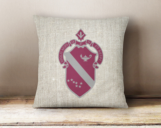Alpha Phi Linen Crest - Shield Pillow