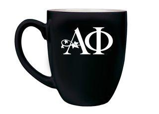 Alpha Phi Logo Bistro Mug