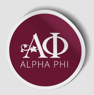 Alpha Phi Logo Round Decal