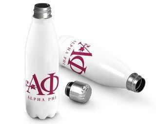 Alpha Phi Logo Stainless Steel Water Bottle