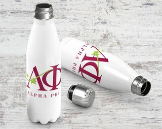 Alpha Phi Logo Stainless Steel Water Bottle