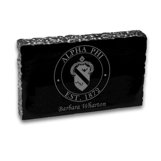 Alpha Phi Marble paperweight