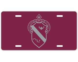 Alpha Phi Crest - Shield License Plate