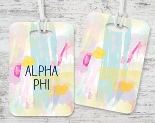 Alpha Phi Watercolor Luggage Tag