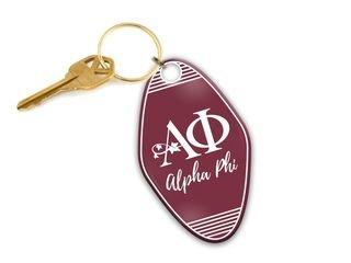 Alpha Phi Mascot Motel Keychain