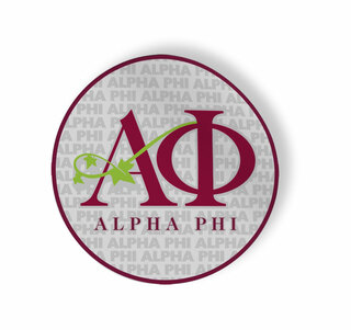 Alpha Phi Mascot Round Decals