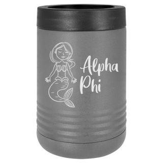 Alpha Phi Mermaid Stainless Steel Beverage Holder