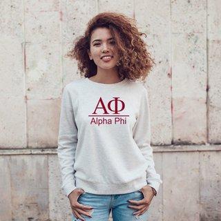 Alpha Phi Message Crewneck Sweatshirts