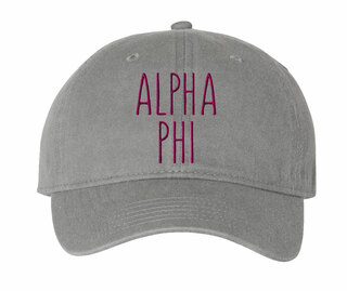 Alpha Phi Mod Comfort Colors Pigment Dyed Baseball Cap