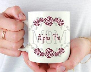 Alpha Phi Mom Floral Mug