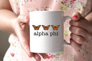 Alpha Phi Monarch Butterfly Coffee Mug