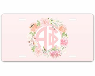 Alpha Phi Monogram License Plate