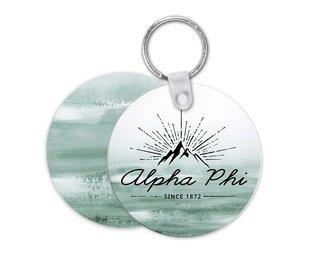 Alpha Phi Mountain Key Chain