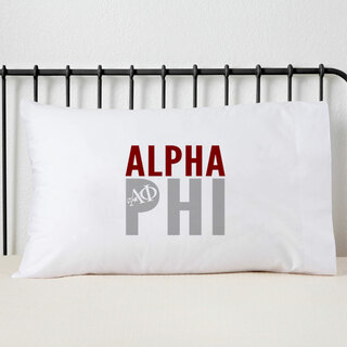 Alpha Phi Name Stack Pillow Cover