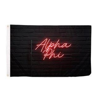 Alpha Phi Neon Flag