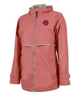 Alpha Phi New Englander Circle Monogram Rain Coat