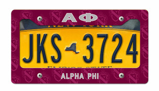 Alpha Phi New License Plate Frame