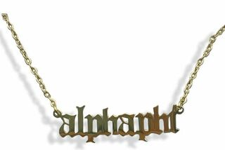 Alpha Phi Old English Necklaces