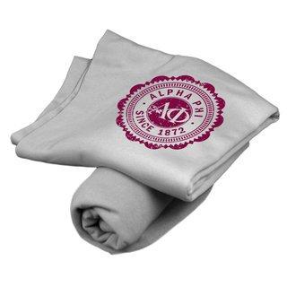 Alpha Phi Old School Seal Sweatshirt Blanket